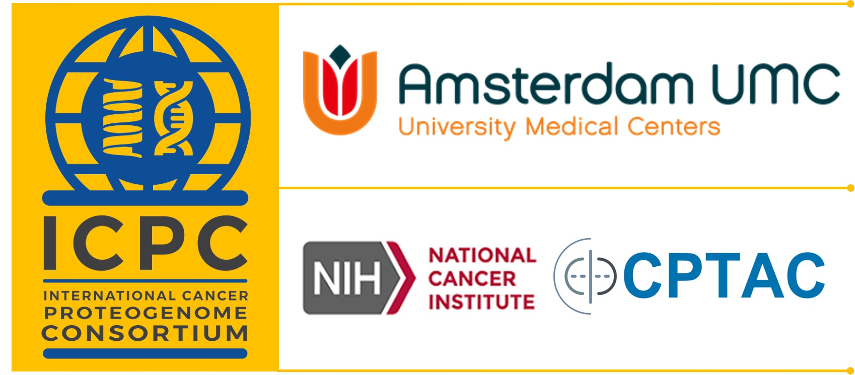 International Cancer Proteogenome Consortium and Amsterdam UMC logos