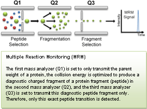 multiple reaction monitoring (MRM) mass spectrometry